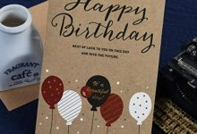 Photo of HSC Birthday Cards Business Kraft Happy Birthday Greeting Cards Message Cards Party,WISH 1724 II 01