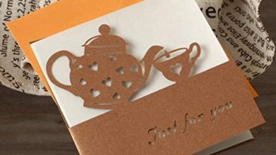 Photo of HSC Cute Mini Greeting Cards Multi-purpose Birthday/Best wishes Small Laser Cut Greeting Cards,Coffee Tea Pot