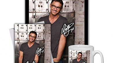 Photo of Star Prints UK Marti Pellow Wet Wet Wet (V1) Gift Set Bundle 2020 – Large 11cm Mug, A4 Framed Poster and Matching Personalised Birthday or Fathers Day Card (Personalised Card)