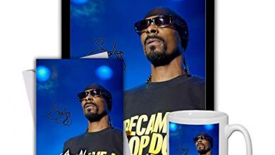 Photo of Star Prints UK Snoop Dogg (V1) Gift Set Bundle 2020 – Large 11cm Mug, A4 Framed Poster and Matching Personalised Birthday or Fathers Day Card (Personalised Card)