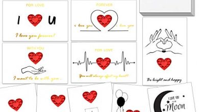 Photo of HOWAF 12 Pack Valentine's Day Card Heart Card Anniversary Valentine's Gift Love Card for Him, Her, Mum, Boyfriend, Girlfriend, Husband, Wife, Couple, Birthdays, Weddings, with Envelope