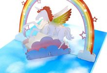 Photo of Birthday Card Unicorn Creative 3D Pop-up Handmade Paper Carving Thanksgiving Message Blessing Card