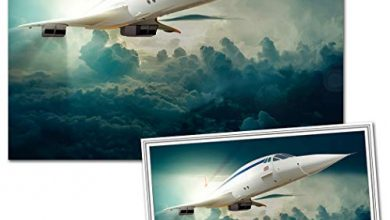 Photo of Extra Special Fathers Day Card with Matching Unframed A4 Print – Unusual Card and Gift idea – Best Value – High Quality – Cheap Present – Cool Vector Wall Art – Unique Concorde Airplane Card-n-Print