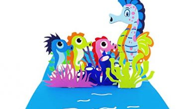 Photo of Seahorse 3D Mother's Day Card – Ocean, Seahorse, Nature, Fun, Kids, Mom, Special Days, Thank You, Happy Birthday, All Occasions | Pop Card Express