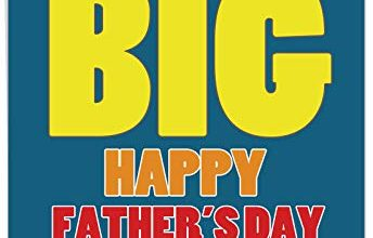 Photo of Giant 8.5″ x 11″ Happy Fathers Day Card for Grandfathers -Big Father's Day Wish – Grandpa – Large Bold & Colorful Print to Surprise Grandparents & Dads (With Envelope) #J3456FGG