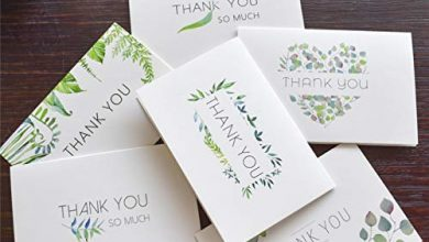 Photo of VIOYO Leaf Floral Thank You Notes Cards with envelope stickers custom Invitations Blank inside Greeting Cards postcards Gift Card