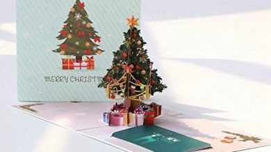 Photo of DuangDuang Christmas tree and small tree Color printing Christmas three-dimensional greeting card blessing thanksgiving creativity Thanksgiving, Valentine's Day, birthday card