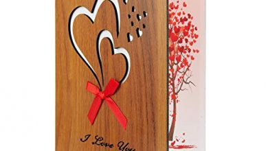 Photo of TUPARKA I Love You Card Imitation Wooden Greeting Card for Anniversary, Valentine's Day, Birthdays, Weddings, and Special Occasions