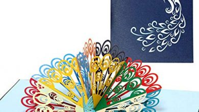 Photo of SJUNJIE 3D Pop-up Peacock Greeting Cards Handmade Cards for Birthday Wedding Invitation Greeting (Envelope Included)