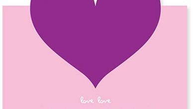 Photo of Love Greeting Cards Assortment Gift Greeting Card Blank Inside for Every Occasion Valentine her Him Mother Father Teachers' Day Aloha Birthday Wedding Anniversary of 2019 BALLOON (Pink Purple Heart)