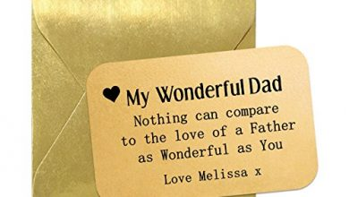 Photo of Pure Essence Greetings Wonderful Dad Personalised Aluminium Keepsake Wallet Card. 8.5cm x 5.5cm. Suitable For Any Occasion