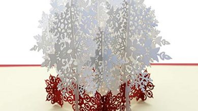Photo of 1Pc 3D Christmas Greeting Cards Pop Up Christmas Cards Beautiful 3D Snowflake Card Stereoscopic Greeting Card Christmas Greeting Cards for Wife, Girls, Husband, Friend
