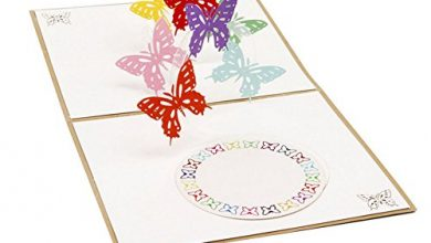 Photo of Manman Gift Mother's Day, Father's Day 3D Pop Up Card Butterfly Happy Anniversary Birthday Valentine Christmas