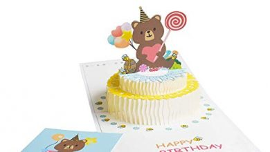 Photo of XNX Pop Up Greeting Card,Birthday Handmade 3D Pop up Birthday Card for Women Men Kids with Envelope Laser Cut Gift Cards (Light Blue 15X15CM)