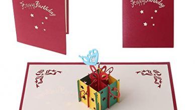 Photo of Manman Gift Mother'S Day, Father'S Day 3D Pop Up Greeting Card Butterfly Hollow Candy Box Birthday Christmas Thank You Red