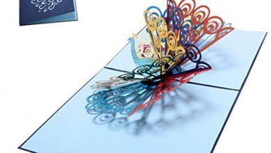 Photo of GECOMO 3D Greeting Card, 3D Pop Up Card Peacock Birthday Wedding Anniversary Greeting Cards Invitations,
