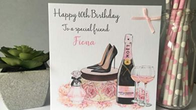 Photo of Personalised Handmade Birthday Card Female Girls Champagne Gifts Shoes Daughter Granddaughter 16th 18th 21st 30th 40th 50th 60th