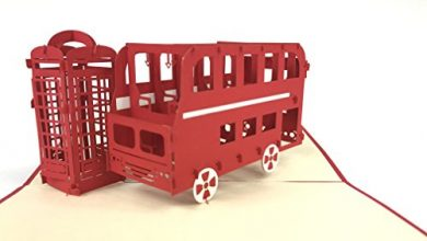 Photo of public phone&London Bus 3D Pop Up Greeting Cards Anniversary Baby Birthday Easter Halloween Children's Mother's Father's Day Home New Year Thanksgiving Christmas Valentine