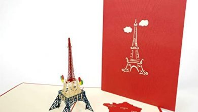 Photo of Eiffle Tower Paris 3D Pop Up Greeting Cards Anniversary Baby Birthday Easter Halloween Mother's Father's Day New Home New Year Thanksgiving Valentine Wedding Christmas