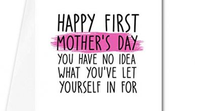 Photo of Funny sarcastic mother's day card- Happy first mother's day – first time mum