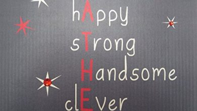 Photo of WHITE COTTON CARDS Funny.Happy.Strong.Handsome.Cleve.Marvellos, Hand Embellished Father's Day Card (Code D5)