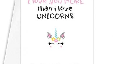 Photo of Funny sarcastic mother's day card- mummy i love you more than unicorns