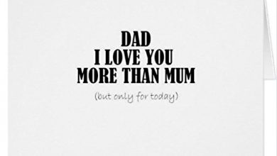 Photo of Funny fathers Day card – love you more than mum