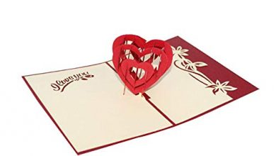 Photo of cookin 3D Pop-up Valentine's Day Card Creative Handmade Paper Greeting Card Blessing Card,Handmade Greeting Card to Lover Wife Girlfriend for Mother's Day Anniversary Wedding Birthday Valentines