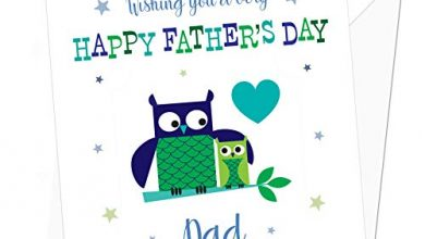 Photo of Cute Owls Personalised Father's Day Card – Special Card for Dad – Daddy, Grandad, Grandpa
