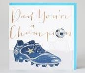 Photo of Luxury Father's Day/Birthday Card by belly Button – Football Design
