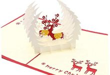 Photo of 1Pc 3D Christmas Greeting Cards Pop Up Christmas Cards Beautiful 3D Fawn Card Stereoscopic Greeting Card Christmas Greeting Cards for Wife, Girls, Husband, Friend Stationery and Office