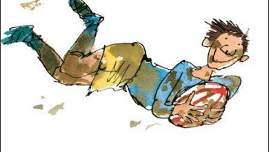 Photo of Quentin Blake Illustrated Father's Day Card (WDM-450457) – Rugby Fun, Champion Dad – by Woodmansterne