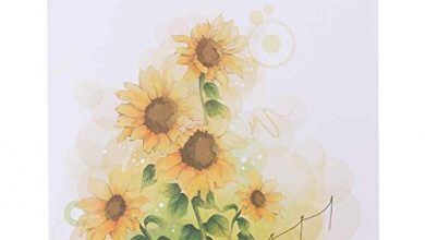 Photo of GECOMO 3D Greeting Card, 3D Pop Up Sunflower Flower Greeting Card Christmas Birthday New Year Invitation,